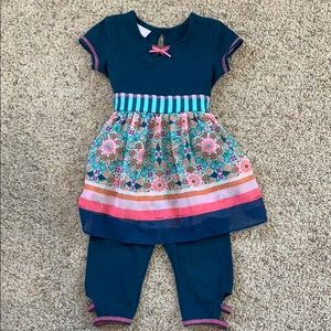Bonnie Baby 2 Piece Outfit Size 24 Months